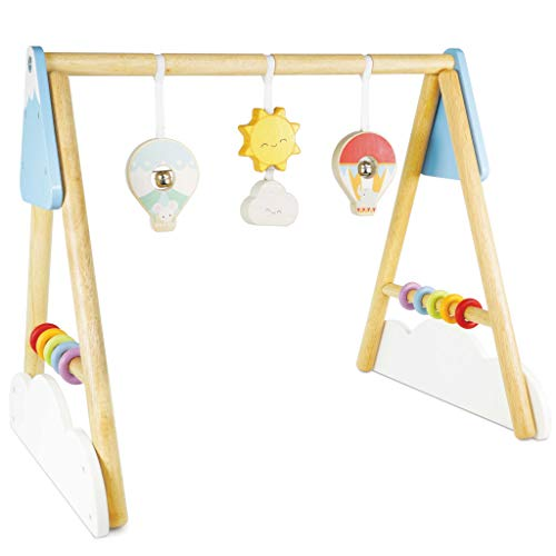 Le Toy Van - Wooden Educational Petilou Multi-Sensory Wooden Baby Gym Rattle and Jingle | Suitable For A Boy Or Girl 2 Months +