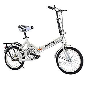 Folding Bikes HUYURI 20 Inch Foldable Lightweight Mini Bike Small Portable Bicycle Adult Student [tag]