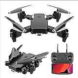 Drone plegable con cámara 1080P FPV HD para adultos, cuadricóptero RC con control de gestos Tap Fly Mantener la altitud Modo sin cabeza Volteos 3D Tiempo de vuelo largo 30 minutos Incluye estuche de