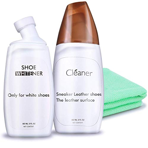 Shoe Cleaner + White Shoe Polish, White Shoe Cleaner, Shoe Cleaning Kit for all fabric as Sneaker Tennis Canvas, Pack of 2, Appleaves