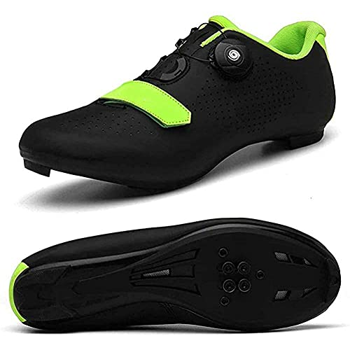 Los Zapatos De Ciclismo De Los Hombres Giran Shoestring Con Zapato De Pelotón De Letra Compatible Con SPD Y Delta Para Los Zapatos De Bicicleta De Pedal De Bloqueo Para Hombres VIIPOO,Black-37 EU