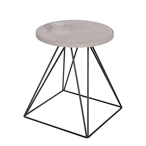 ZSIF salontafel, smeedijzeren steunen, betonnen aanrechtbladen, creatieve woonkamer tafel bank kant een paar van de ornamenten
