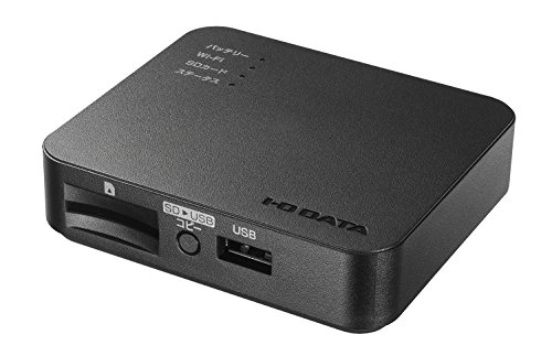 I-O DATA Wi-Fi SDカードリーダー|iOS・Android|11ac|スマホ充電|3,350mAh|WFS-SR03K