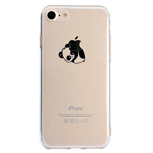Sycode Custodia per iPhone 8 4.7',Cover per iPhone 7 4.7',Carina Cartone Disotto Panda Morbida Protettivo Coperture per iPhone 8/7 4.7'-Disotto Panda