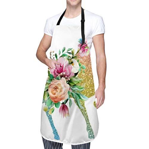 Unisex Schürze, wasserdicht langlebig verstellbar Schöne Colofrul Einhorn Magic Horse Pegasus Kochschürzen Küchenschürzen zum Geschirrspülen BBQ Grill Restaurant Garden