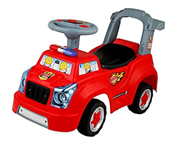 POCO DIVO Fire Engine Truck 3in1 Baby Walker Toddler Ride On Car Pretend Play Toy Kids Gliding Scooter with Music & Light