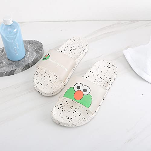 Chanclas Unisex Adulto,Zapatillas Antideslizantes de Fondo Suave de Dibujos Animados Hembra, Pareja de Sandalias de baño-Verde_36-37,Zapatillas Antideslizantes Libre Baño