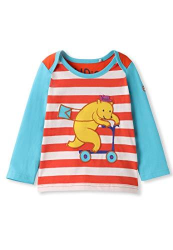 Bawełniana organiczna bawełna zwierzę aplikacja niemowlę maluch top z długim rękawem - dziewczyna chłopiec koszulka bluzka (0-4 lata)