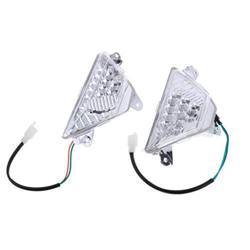IPOTCH Intermitentes LED para Motocicleta, Luces Intermitentes Delanteras para 650R