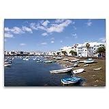 Premium Textil-Leinwand 120 x 80 cm Quer-Format Lanzarote -