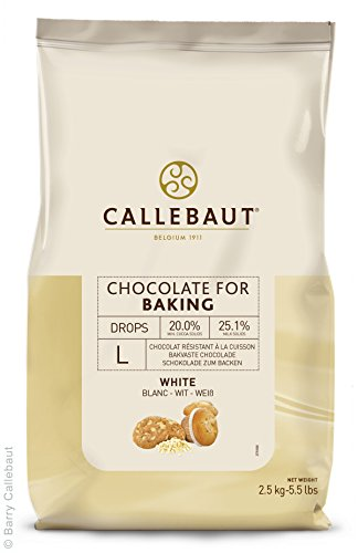 Callebaut - Pépites de Chocolat Blanc Résistant à la Cuisson 2,5kg