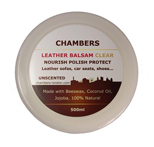 Natural Chambers - Acondicionador y restaurador de cuero en bálsamo de 500ml, apto para todo cuero liso, perfecto para sofás de piel anilina