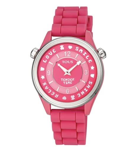 Tous Watches Reloj Tender Time de Acero con Correa de Silicona Rosa Ref. 100350580