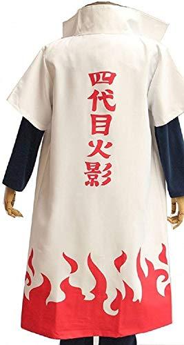 Bellebuy Naruto Anime Cosplay Costume Fourth Hokage Namikaze Minato Cape Cloak Outfit (XL,White)