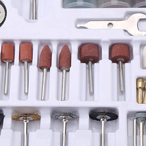 SALUTUYA Kit de Herramientas de amolado rotativo Mini Herramienta giratoria Accesorios de Herramientas rotativas Taladro de Pulido de Pulido Universal, para el Cuidado del automóvil, carpintería,