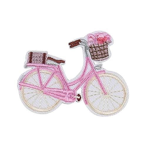 yueyouhuyou DIY Ropa Letras 2 Piezas Rosa Bicicleta Hierro en Parches Bordados...