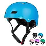 KORIMEFA Casco de Bicicleta para Niños de 3 a 13 años, Casco de Scooter para Niños con Certificación CE para Bebés, Niñas, Niños, Protección para Múltiples Deportes (Azul, M)