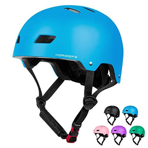 KORIMEFA Kids Helmet Age 3 Skateboard Helmet Toddlers Bike Helmet CE Certified Kids Skateboard Helmet for 3-13 Years Boys Girls Adjustable Helmet for BMX Cycling Roller Scooter (Blue, M)