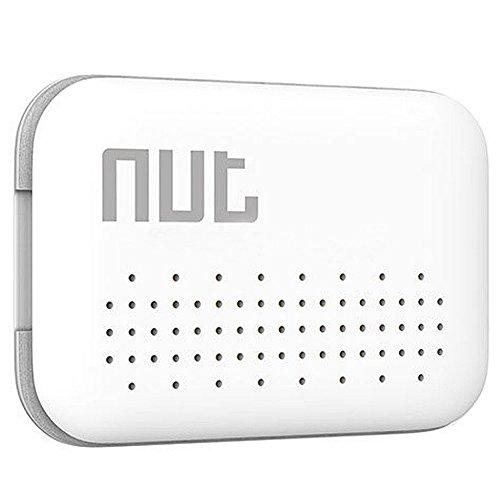 MEXUD-Mini Smart Tag GPS Tracker Nut 3 Bluetooth Anti-lost Alarm Key Finder Locator (White)