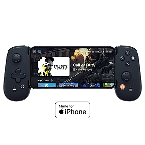 Backbone One iOS Mobile Gaming Gamepad / Controller for Apple iPhone (MFi Certified) - Apple Arcade, Xbox Game Pass, Playstation Remote Play, Stadia, Steam, CoD Mobile, Genshin Impact, Minecraft