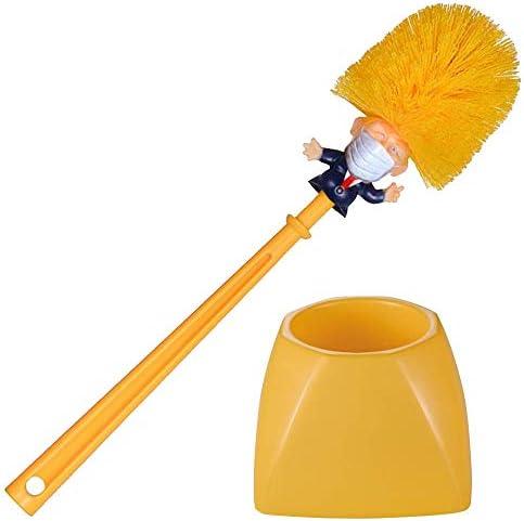 Donald Trump Face Mask Toilet Brush Novelty Bowl Cleaner for Household Bathroom Funny President product image