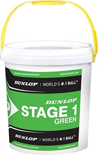 Dunlop Mini Tennis Stage 1 Grün, 60er Plus Eimer