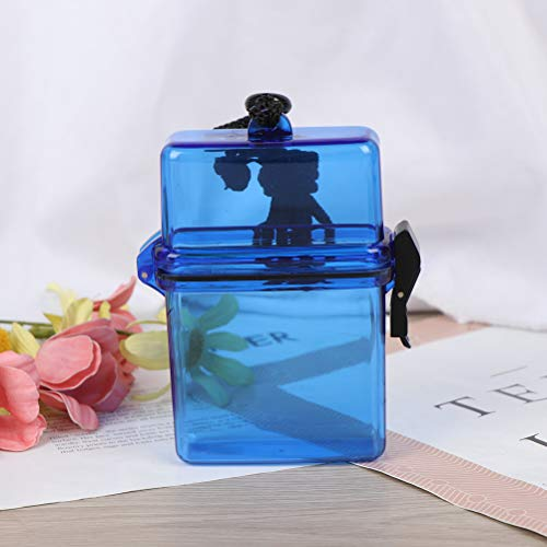 NIHAOYA 1 caja transparente impermeable pequeña tarjeta de visita caja de almacenamiento ligero exquisito contenedor accesorios para hombres y mujeres