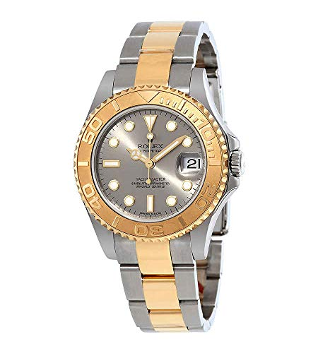 Rolex Yacht-Master Grey Dial Stainless Steel and 18K Yellow Gold Oyster Bracelet Automatic Men's Watch 168623GYSO