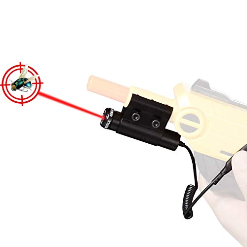 Cenda Laser Sight for Salt Gun 2.0 3.0, Accessories of Bug Assault for Killing Flies with Pressure Switch, Fits All Versions of Insect Airsoft BB Pump Shooter Rifles