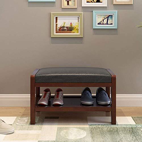 Taburete para Pies, Organizador De Almacenamiento De Zapatero De Micro Tela Y Banco De Pasillo/Taburete Moderno Simple para Guardar Zapatos/Banco De Sofá De Moda / 18.5x13x14.1inche(Color:C)