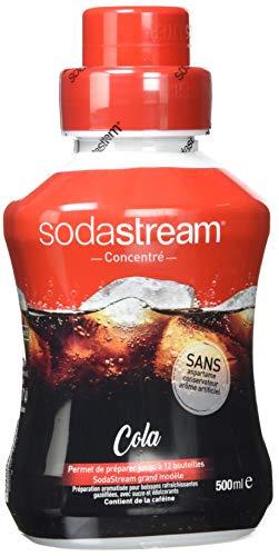 SodaStream Sirup Cola, Ergiebigkeit: 1x Flasche ergibt 12 Liter Fertiggetränk, Sekundenschnell zubereitet und immer frisch, 500 ml, rot