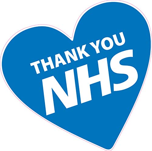 shop vinyl signs taxi window car MCR Prints I LOVE NHS Stickers 55mm waterproof van