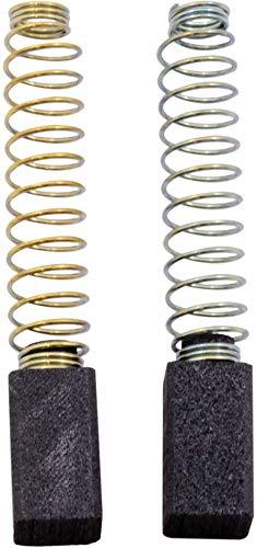 Escobillas de carbón Buildalot Specialty ca-04-33068 para Black & Decker Cortasetos DNJ550-6,3x6,3x11 mm - Reemplaza partes 376143, 883772 & 913599