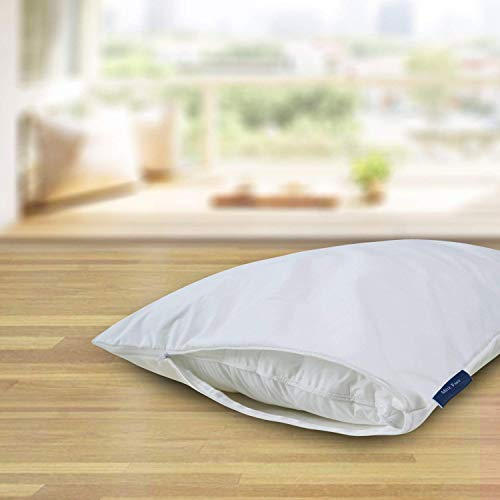 """Zippered Pillow Protectors Cooling, Bed Bug Proof, Waterproof Hypoallergenic Pillow Covers, 2-Pack(20"""" x 36"""") by Mite Free"""
