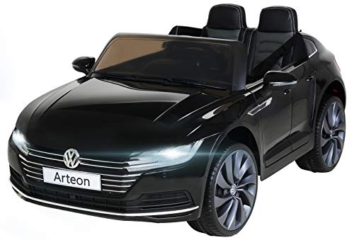 Actionbikes Motors Kinder Elektroauto VW Arteon - Lizenziert - 2 x 45 Watt Motoren - 2,4 Ghz Fernbedienung - Eva Reifen - Multimedia Touch Display (Schwarz)