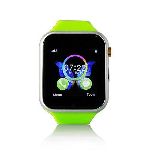 Yuntab W10 - Smartwatch (pantalla 1.54', cámara 0.3 Mp, 128 MB, 64 MB RAM), plateado y verde