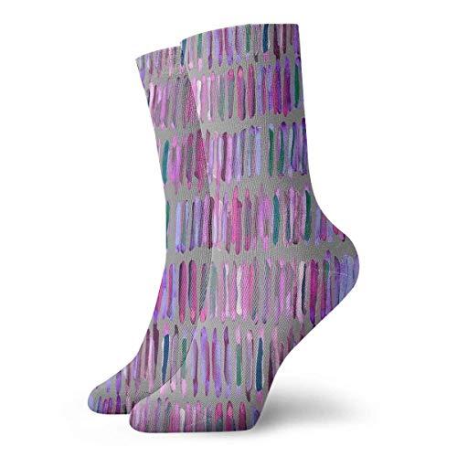 Dydan Tne Calcetines desordenados de Rayas de Acuarela Respira Calcetines Casuales de Estilo novedoso
