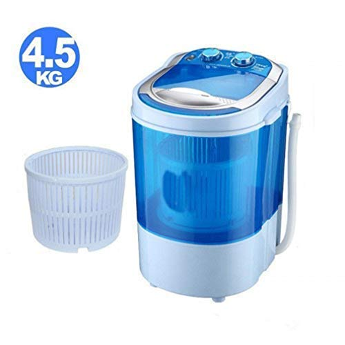 Toytexx Electric Mini Portable Compact Washing Machine Hold 4.5 Kg Clothes for Children, Camping, Dorm-Blue Color