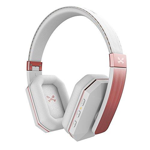 Ghostek soDrop 2 Wireless Headphones Bluetooth 4.0 Over Ear Hands-Free Headset   White & Rose