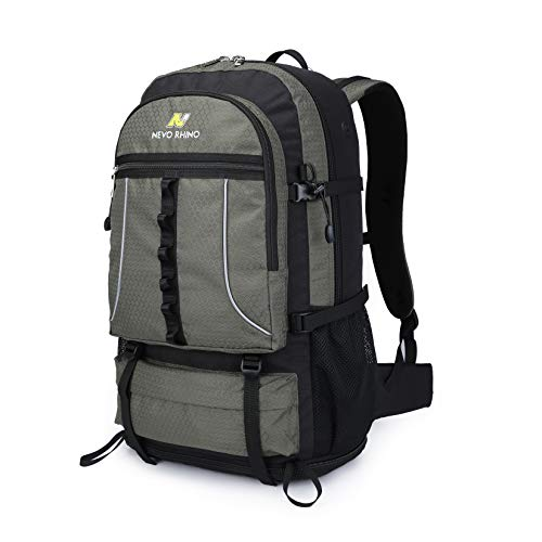 N NEVO RHINO 45L Hiking Backpack, Expandable Large Capacity Daypack,Lightweight Backpack for Camping Climbing
