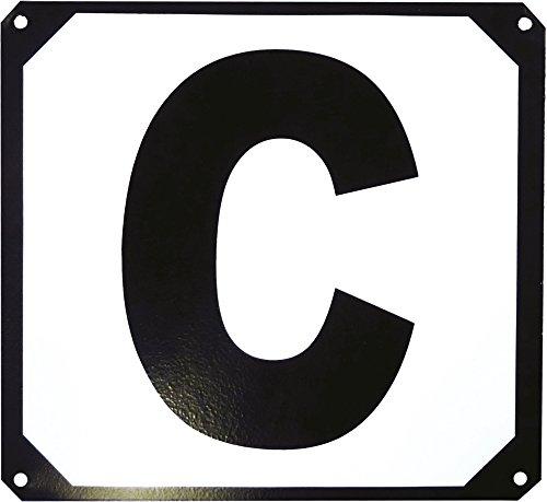 12er Buchstaben-Set, Bahnpunkte auf Metallrahmen schwarz/weiß