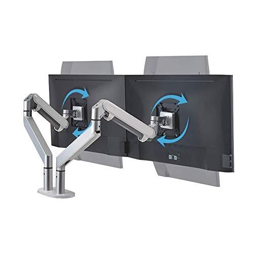 WJJ Meuble tv Industriel Meuble tv Noir Hauteur entièrement réglable avec moniteur de gaz en aluminium Spring Mount Riser émerillons bureau monter jusqu'à 32 pouces LCD Les écrans d'ordinateur peut co
