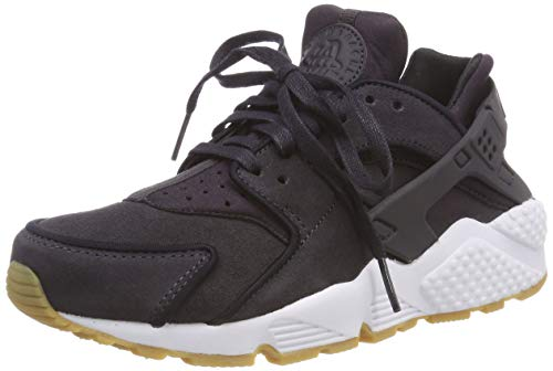 NIKE Wmns Air Huarache Run Prm, Scarpe Running Donna, Oil Grey/Black/White 018, 36 EU