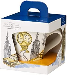 New Wave Caffé Cities of the World Mug New York By Villeroy & Boch - Premium Porcelain - Made in Germany - Dishwasher and Microwave Safe - Gift Boxed - 11.75 Ounce Capacity