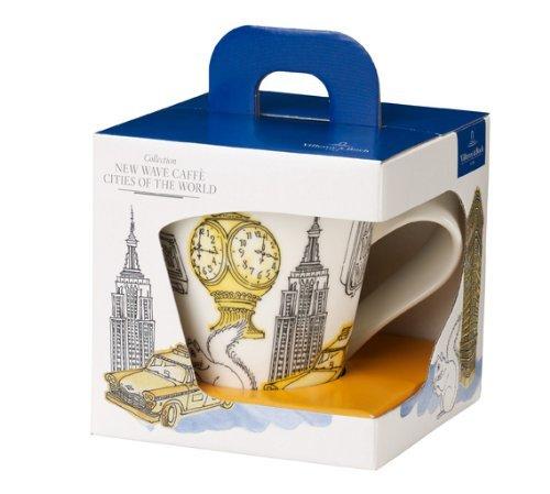 Villeroy & Boch 10-4115-9100 Cities of the World Kaffeebecher New York, Premium Porzellan, 350 milliliters, gelb