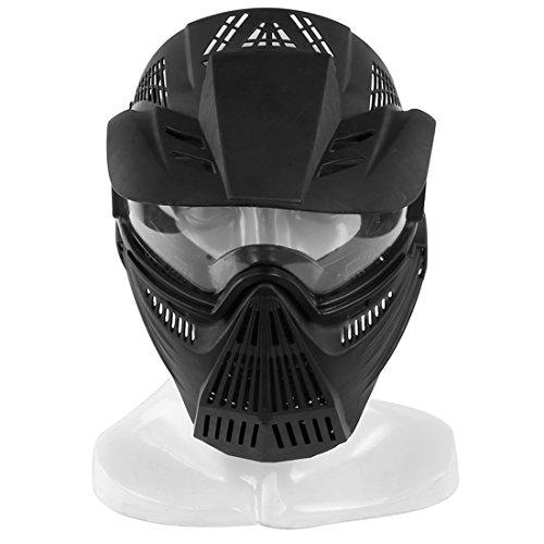 15000P Taktische Maske Vollgesichtsmaske Abdeckung mit Brille Schutzmaske für Nerf Rival, Nerf Infinus, Nerf Disruptor