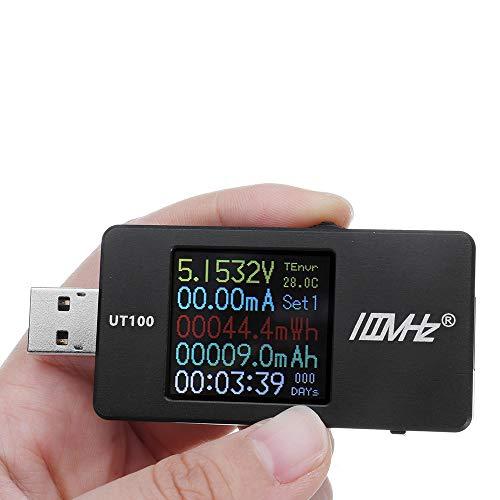 DyNamic UT100 USB-Multifunktions-CNC-Tester Dual-USB-Power-Monitor QC2.0 QC3.0 PD TypC PD Ladespannung 1.44 Zoll HD-Farbbildschirm - Schwarz