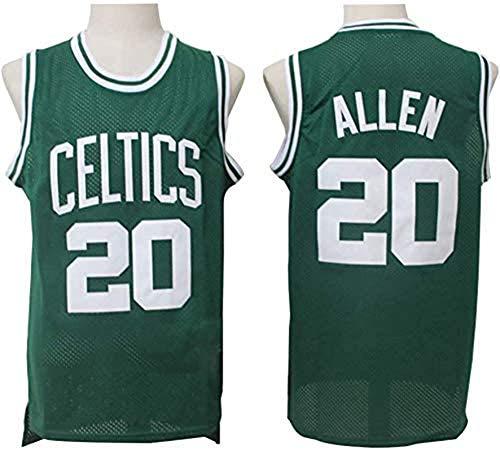 Ropa de Baloncesto para Hombre, Celtics de Boston # 20 Ray Allen Swingman NBA Jersey, Deportes al Aire Libre Uniformes de Baloncesto Camiseta sin Mangas CAM Top Top,2,L