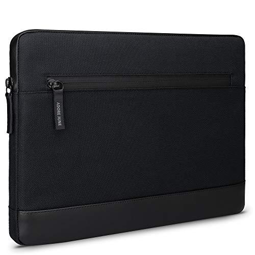 Adore June 12,4 Zoll Bent Tablet Tasche Schwarz kompatibel mit Galaxy Tab S7 Plus, Nachhaltige Recycelte Stoffe, wasserdichte Reißverschlüsse & Klappbarer Stifthalter für S-Pen - Made in Europe