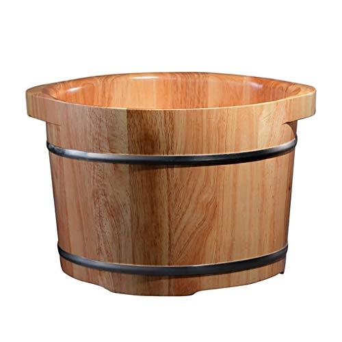 Sauna Wooden Bucket,Spa, Sauna,Soak Footbath Basin,Handmade Massage Bucket Foot Bath,Foot Spa Wash Bucket Feet Bath Basin Tub